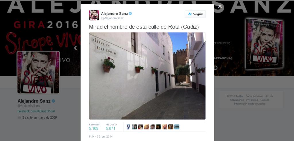 Alejandro Sanz tweet Rota