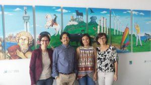 Con la diputada de Turismo, Mariloli Varo.